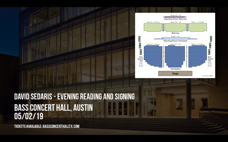 David Sedaris - Evening Reading and Signing at Bass Concert Hall